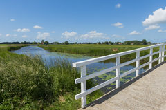 Bridge and Ditch at Aartswoud Royalty Free Stock Photography