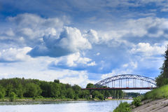 Bridge. Dmitrov. Moscow Canal. Russia Stock Image