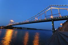The bridge through Dnepr Royalty Free Stock Images