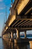 Bridge on dnepr river Royalty Free Stock Image