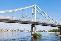 Bridge through Dnieper River Stock Photos