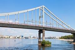 Bridge through Dnieper River Stock Photos