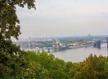 Bridge on Dnieper River in Kiev Royalty Free Stock Images