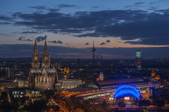 Bridge and the Dom of Cologne Royalty Free Stock Image