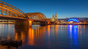 Bridge and the Dom of Cologne Stock Photo