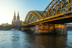 Bridge and the Dom of Cologne Stock Images