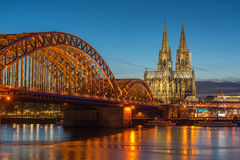 Bridge and the Dom of Cologne Stock Photography