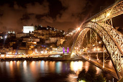 Bridge Dom Louis, Porto, Portugal Royalty Free Stock Photos