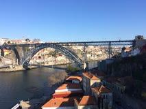 bridge dom-luis royaltyfri foto