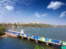 Bridge on the Dona Paula cape. Goa. The bridge on the Dona Paula cape. Goa Royalty Free Stock Photo