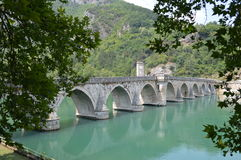 Bridge on Drina Royalty Free Stock Photo