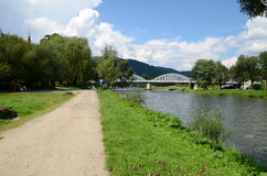 Bridge on the Dunajec Stock Photos