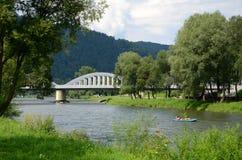 Bridge on the Dunajec Stock Photo