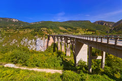Bridge Durdevica in River Tara canyon - Montenegro Royalty Free Stock Photo