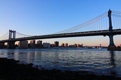 bridge dusk manhattan Στοκ Εικόνα