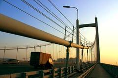 The bridge at dusk Stock Image