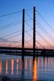 Bridge in Dusseldorf, Germany Royalty Free Stock Images