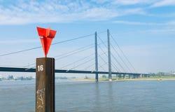 Bridge in dusseldorf, germany Stock Image