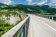 The bridge of Dzhurdzhevich over the river Tara. Montenegro stock image