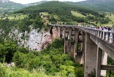 Bridge Dzhurdzhevicha, Montenegro. Panoramic view of the Bridge Dzhurdzhevicha in Montenegro Stock Images