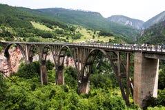 Bridge Dzhurdzhevicha, Montenegro. Panoramic view of the Bridge Dzhurdzhevicha in Montenegro royalty free stock images
