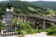 Bridge Dzhurdzhevicha, Montenegro. Panoramic view of the Bridge Dzhurdzhevicha in Montenegro stock photography