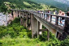Bridge Dzhurdzhevicha, Montenegro. Panoramic view of the Bridge Dzhurdzhevicha in Montenegro Stock Image