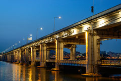 Bridge in the early of the night Royalty Free Stock Images