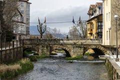 Bridge on the Ebro in Reinosa Cantabria Royalty Free Stock Photography