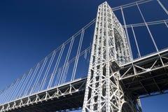 Bridge elements. Close-up: pylon, cables Royalty Free Stock Photos