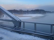 Bridge_03 em Ã-lsund - Hudiksvall fotos de stock royalty free