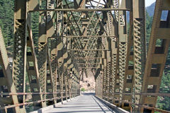 Bridge and engineering  architecture science. Special mounatin bridge with new engineering technique and architectural science Stock Photos