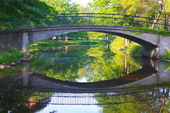 Bridge on the Eslpanade Boston Stock Photo
