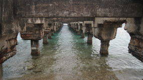 Bridge in Esperanza, Vieques, Puerto Rico. Puente  Stock Photography