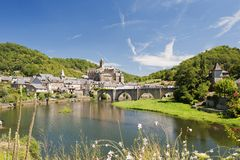 Bridge at Estaing Stock Photos