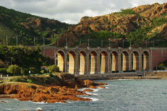 Bridge in the Esterel, France Royalty Free Stock Photography