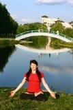 Bridge in eternity Royalty Free Stock Image