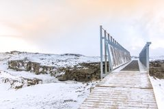 Bridge between Europe and North America. On the Reykjanes Peninsula in South West Iceland stock images