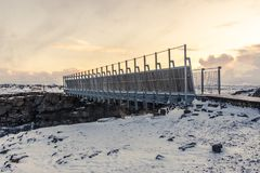 Bridge between Europe and North America. On the Reykjanes Peninsula in South West Iceland royalty free stock images