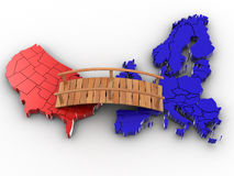 Bridge between europe and usa Royalty Free Stock Images
