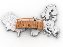 Bridge between europe and usa Stock Images