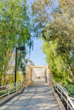Bridge for Exercise Trail Royalty Free Stock Photography