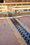 Bridge expansion joint. Picture of a bridge expansion or dilatation joint Royalty Free Stock Images