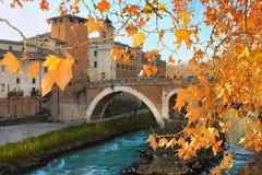 Bridge of Fabricius in Rome Royalty Free Stock Images
