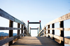 The bridge in the field Stock Photos