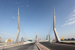 Bridge at financial harbour in Manama, Bahrain Royalty Free Stock Images