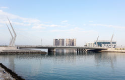 Bridge at financial harbour in Manama, Bahrain Royalty Free Stock Photos