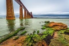 Bridge Firth of Forth in autumn. Scotland Stock Photos