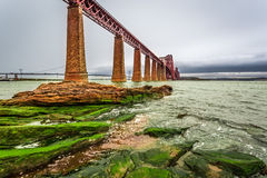 Bridge Firth of Forth in autumn. Scotland Royalty Free Stock Images