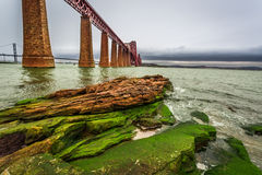 Bridge Firth of Forth and bay Royalty Free Stock Photography